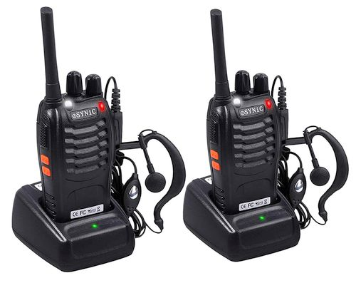 eSynic Rechargeable Walkie Talkies with Earpieces